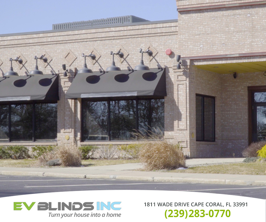 Storefront Blinds in and near Bonita Springs Florida