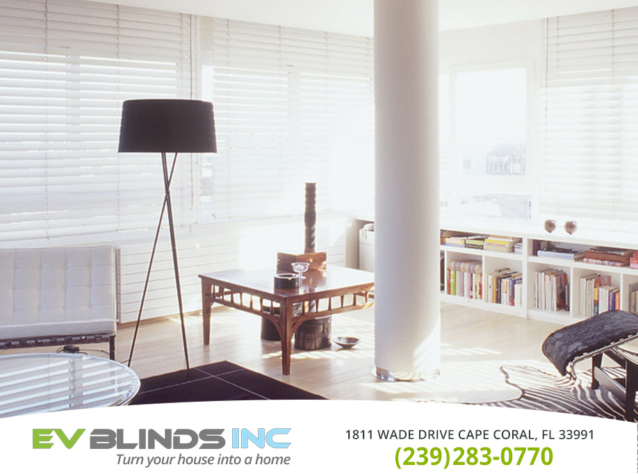 White Blinds in and near Bonita Springs Florida