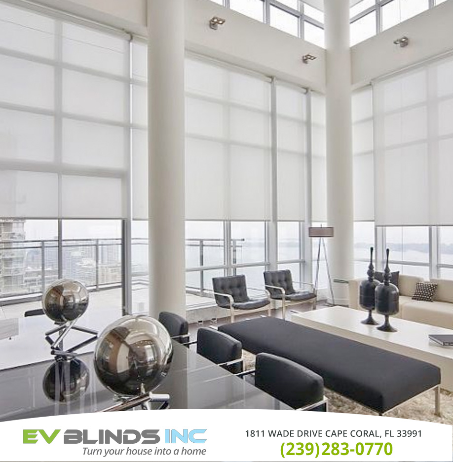 Motorized Roller Blinds in and near Cape Coral Florida