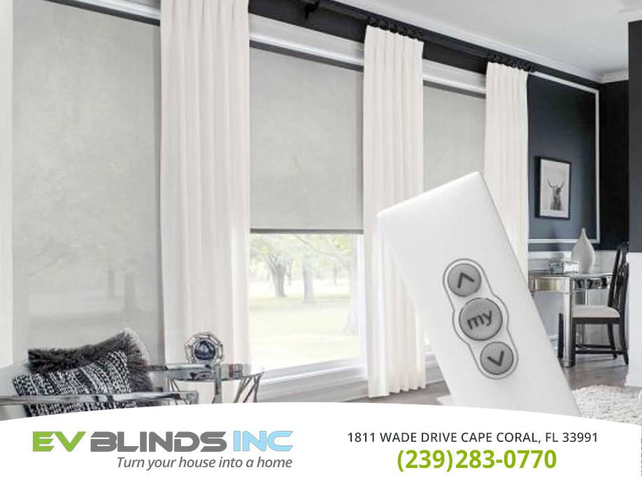 Remote Control Blinds in and near Cape Coral Florida