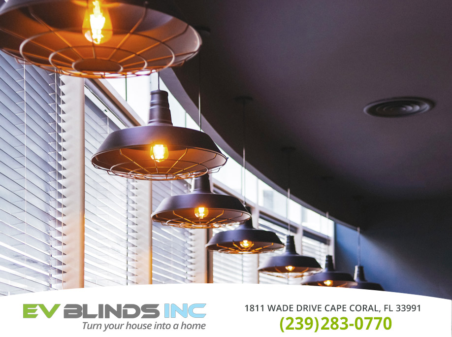 Restaurant  Blinds in and near Cape Coral Florida