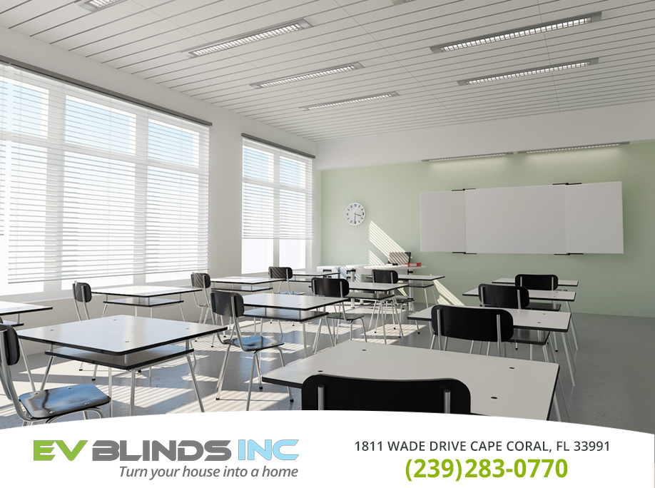 School Blinds in and near Cape Coral Florida
