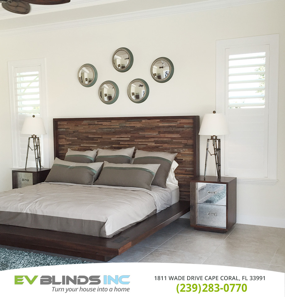 Bedroom Blinds in and near Estero Florida