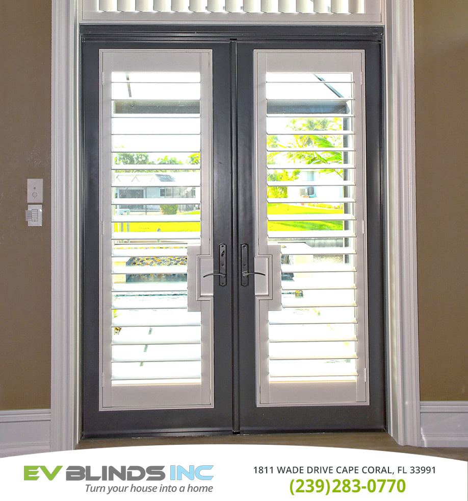 Blinds for French Doors in and near Marco Island Florida
