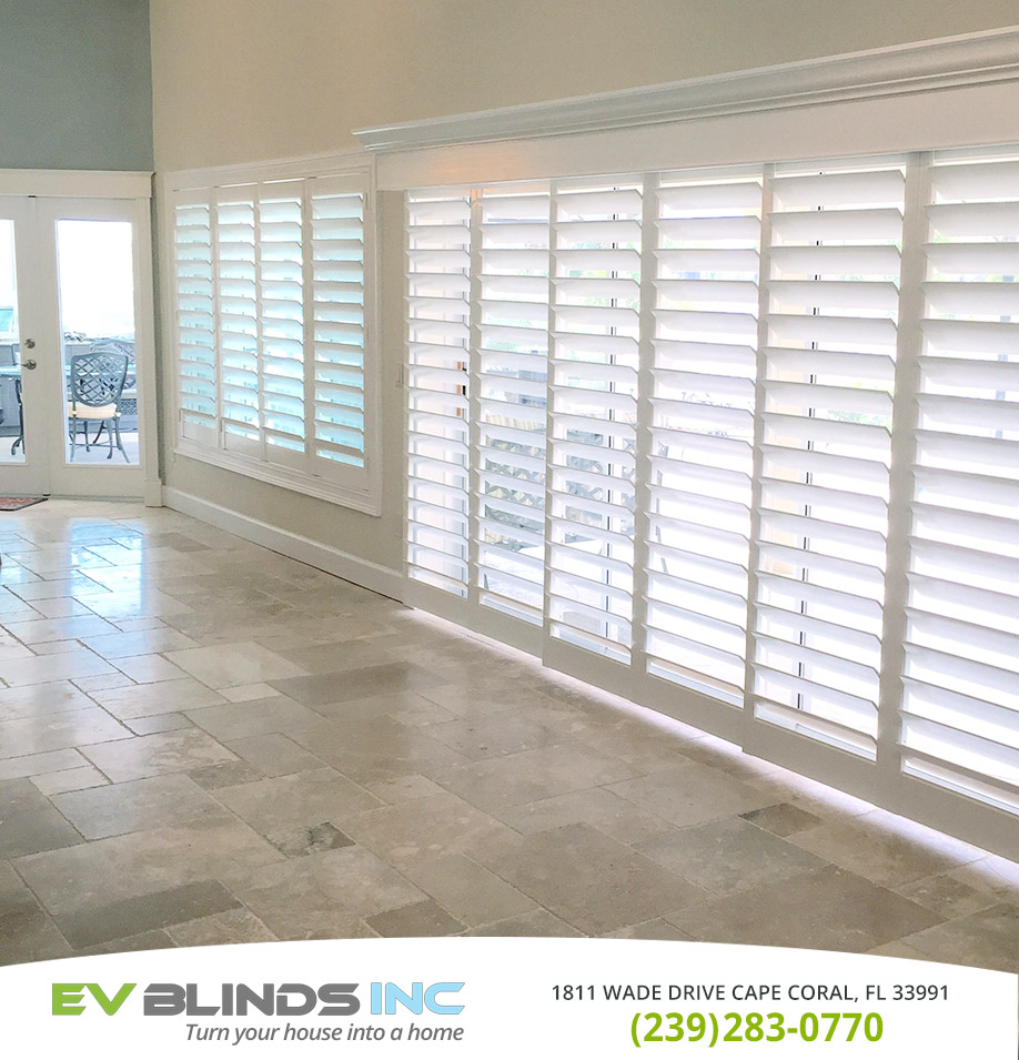 Sliding Door Blinds in and near Marco Island Florida
