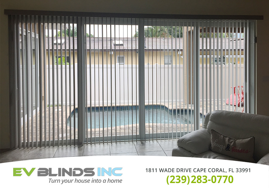 Vertical Blinds in and near Naples Florida