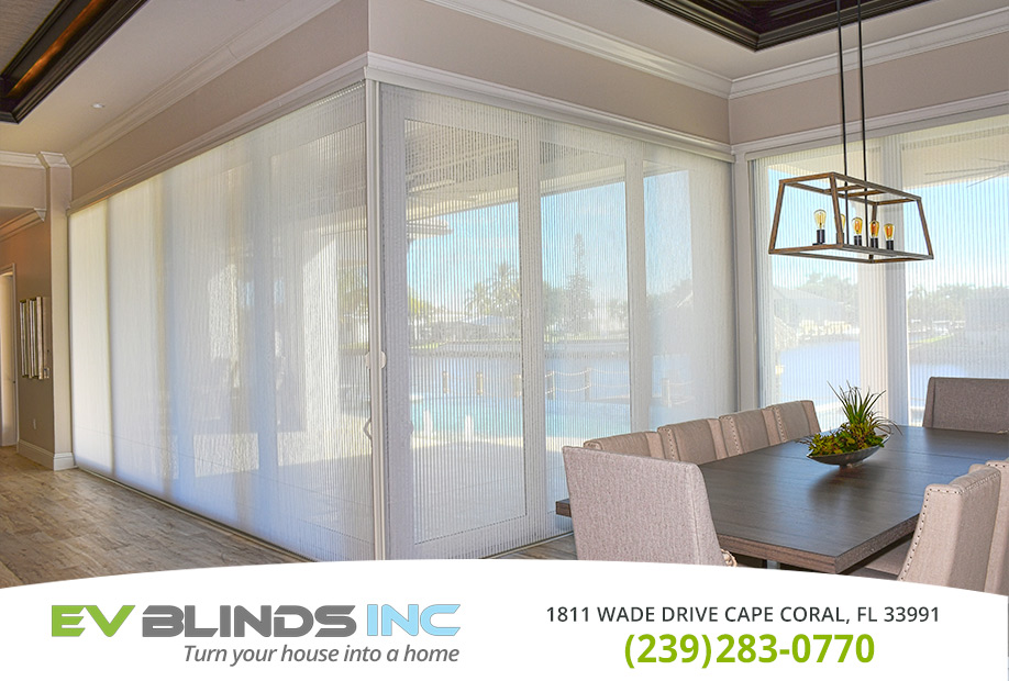 Blinds for Large Windows in and near North Fort Myers Florida