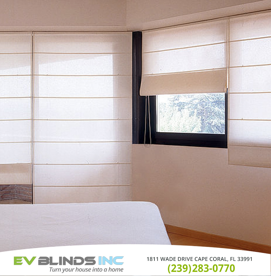 Roman Blinds in and near North Fort Myers Florida