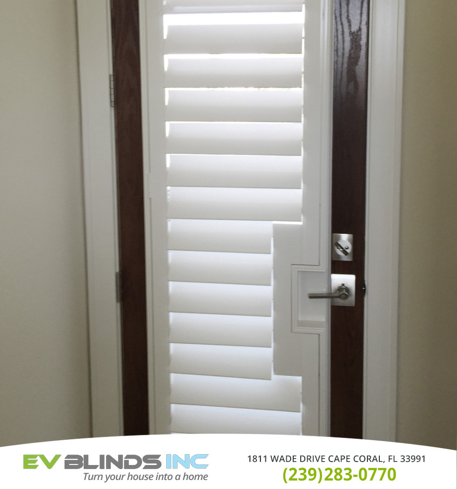 Door Blinds in and near Sanibel Florida